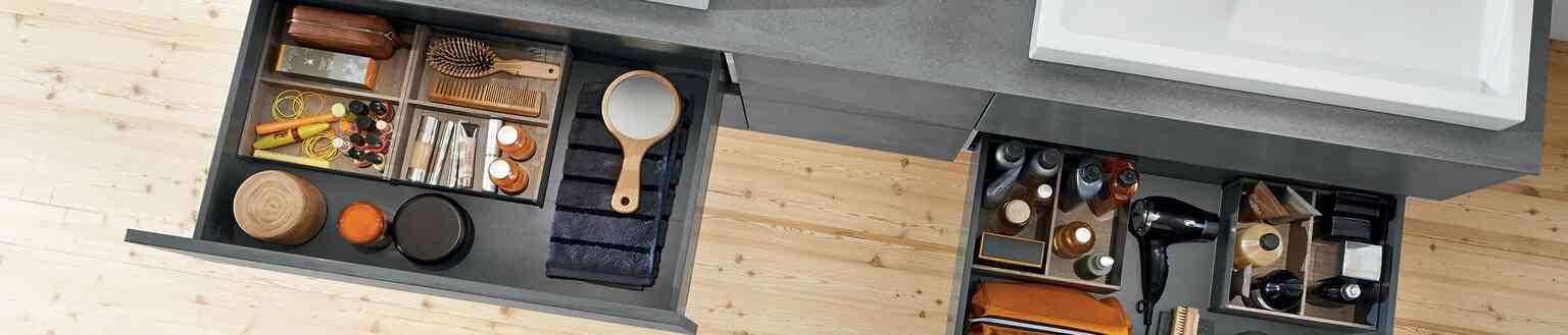 מגירות לארון אמבטיה | בלורן מוצרי פרזול איכותיים לאמבטיה