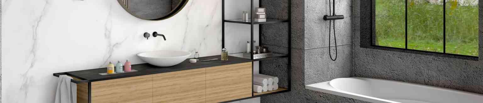 יחידות מידוף אלומיניום לחדר אמבטיה | בלורן מוצרי פרזול איכותיים