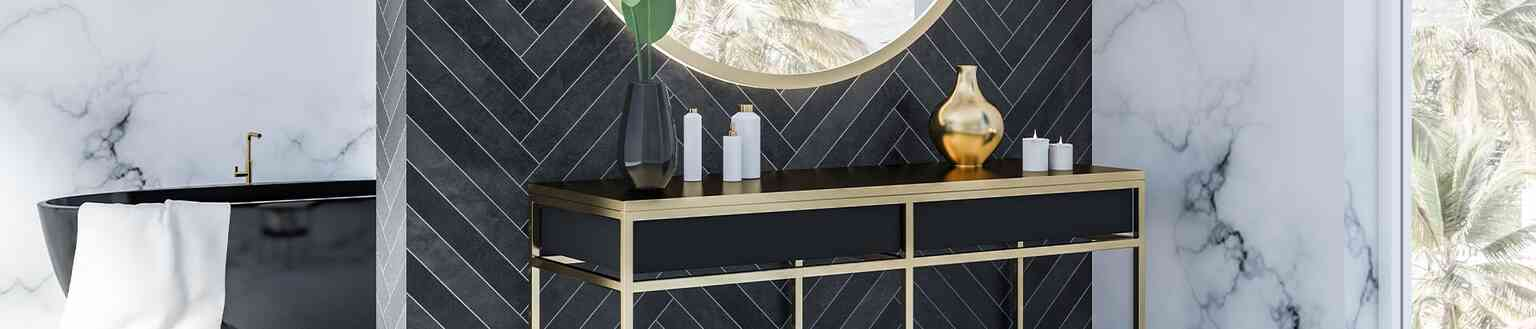 יחידות מידוף אלומיניום לאמבטיה סדרת קאנטי - פתרונות פרזול ועיצוב לחדר האמבטיה