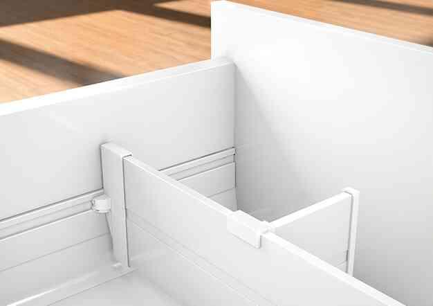 אורגא-ליין למגירות אינטיבו ואנטארו | בלורן מוצרי פרזול איכותיים