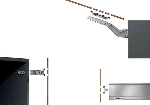 פתרונות לחזיתות דקות אקספנדו BLUM T | בלורן מוצרי פרזול איכותיים